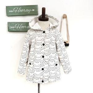 Sweet Kitten Polka Dot Hooded Jacket Size 4T